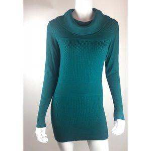 The limited teal blue sweater dress size xs NWT